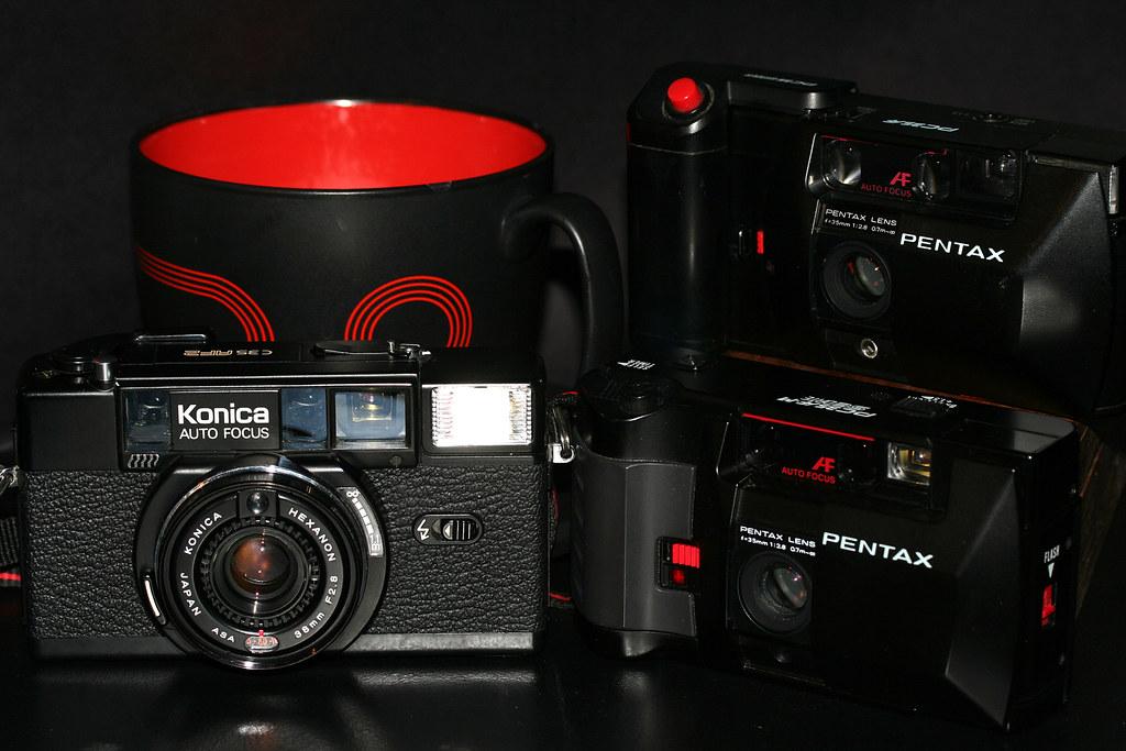 Cameras and Coffee on Memorial Day / PC35AF, PC35AF-M SE, C35 AF2