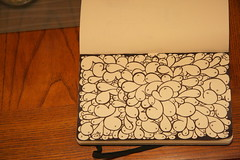 Splat ([rich]) Tags: white black moleskine ink drawing pad doodle wink scribble guts splat