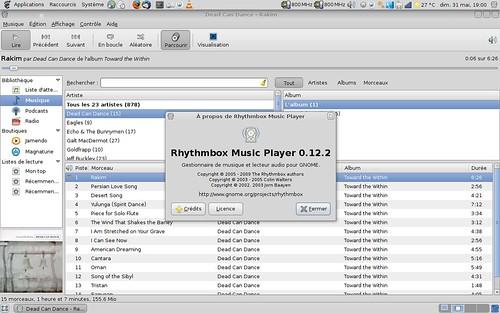 Rhythmbox 0.12.2 sur ArchLinux