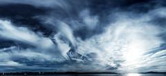 Panorama - HDR Sky over Vancouver (chapterthree) Tags: ocean blue sky panorama clouds dark moody mark horizon vivid ii 5d hdri