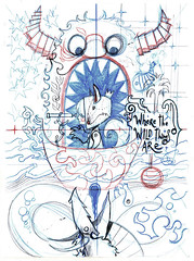 Where The Wild Things Are - sketch (rfaccini) Tags: wild things where sendak