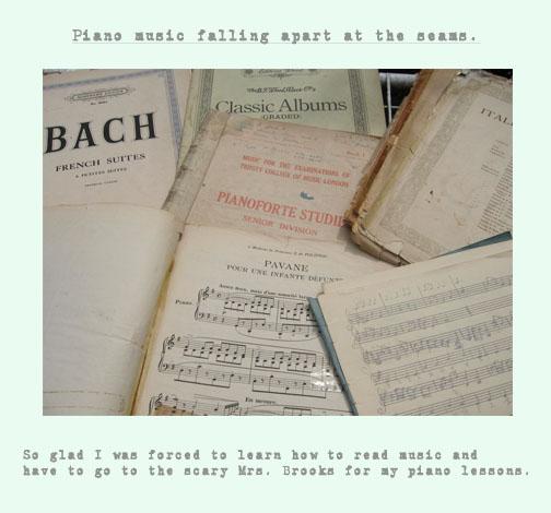 Piano music copy