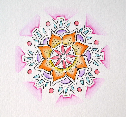 Watercolor Pencil Mandala