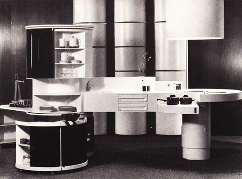 """Home 1980"" futurist kitchen, early '70s"