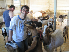Me with Happy Goats