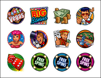 free Crazy Vegas slot game symbols
