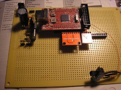 Halfway assembled board