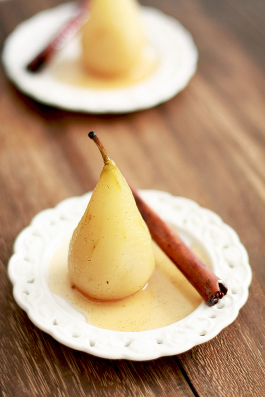 Vanilla Spiced Poached Pears