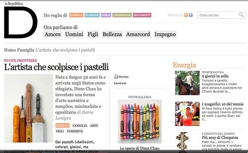 D di Reppublica/La Repubblica Interview!