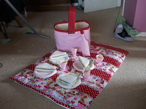 Picnic set by Aunt Angie.
