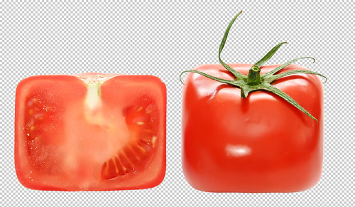square tomato - clipping path included by moonimage