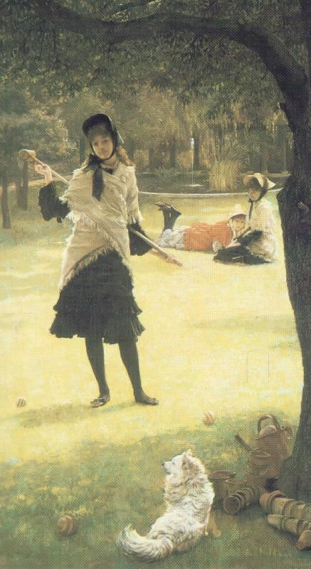 James Tissot, Croquet, 1878