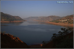 Warasgaon Dam backwater as viewed from Lavasa City.