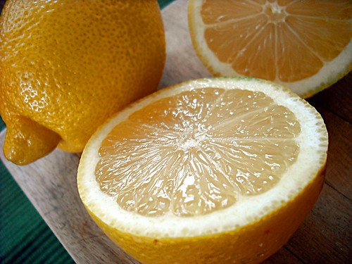 cut open lemon
