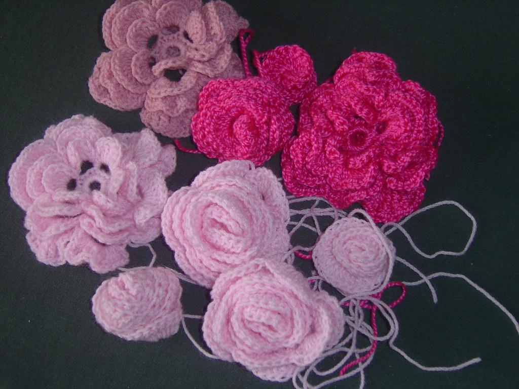crochet flowers for sarah 001