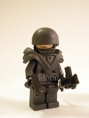 2064 Bloktian Light Machine Gunner custom minifig