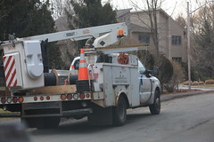 Cablevision arrives to install hanging wires