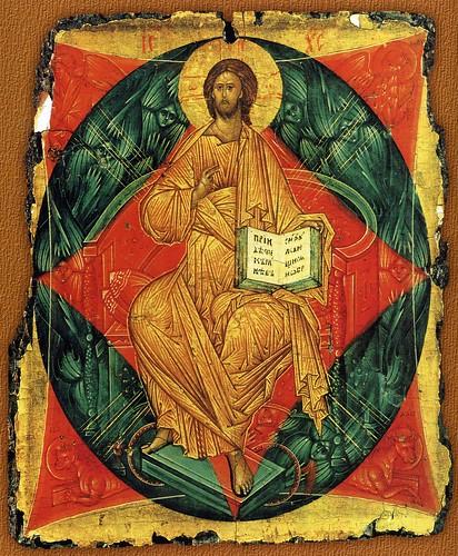 028- Cristo entronizado 1410- Rublev