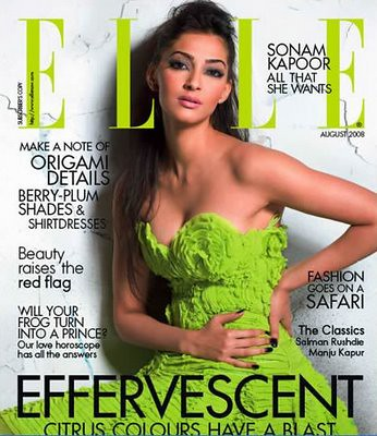Sonam Kapoor on Elle magazine cover