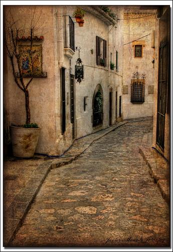 Sitges (13) Calle en sepia