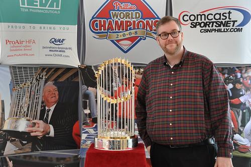 Scott with World Series Trophy