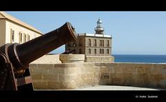 Un poco mas de Melilla. (Antonio Suárez García) Tags: faro mar vieja cielo ciudadela melilla cañon suarez