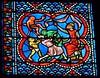 Vitraux du déambulatoire, cathédrale Sainte Marie. Bayonne, vendredi 6 mars 2009.