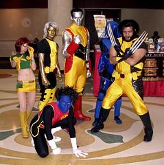 X-Men Costume Group (sciencensorcery) Tags: comics cosplay xmen scifi conventions megacon con wolverine nightcrawler elixir colossus dangerroom marvelgirl megacon2009