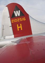 Tail (Bluedharma) Tags: colorado airshow b17 ww2 apa bomber flyingfortress eaa noseart b17tail aluminumovercast kapa b17g centennialairport wingsovertherockies n5017n bluedharma coloradoaviationphotography coloradoaviation 4enginebomber