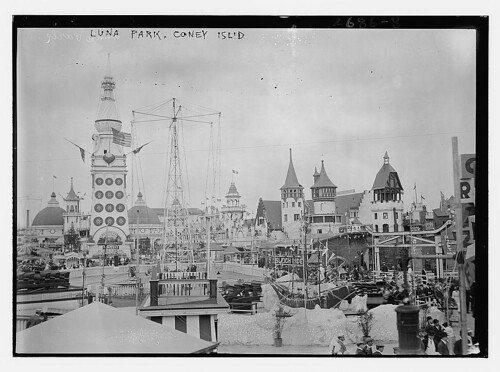 Luna Park, Coney Island ca 1910; LOC Flickr The Commons