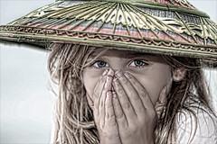 Bashful (karen walzer) Tags: travel girl japan asia secret shy giggle surprised okinawa hdr shocked bashful
