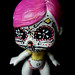 day of the dead altered art doll