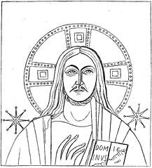 Christuskopf aus der Katakombe des hl. Pontianus