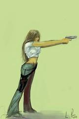 Mathilda Gun (Luis Peso (9monos)) Tags: ipod touch brushes luis peso iphone luispeso