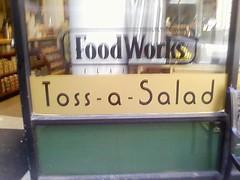 toss a salad