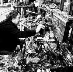 Chris. (.Ronald.) Tags: chris france art canon ronald de 350d noir d peinture christian 350 sur pas et blanc calais huile toile atelier artiste abbaye peintre contemporain glacis hesdin contemporaine dommartin tortefontaine weppe piclin superposés