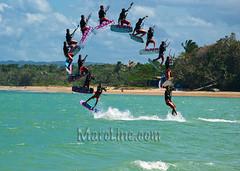 Kite Surfer (MarcGrandmaison.com) Tags: kite sports water fun cord power wind dominicanrepublic surfer rope surfing tied february eco 2009 kiting puertoplata playadorada feb1623 makingthebestofalastdayonthebeach theworldisacycle
