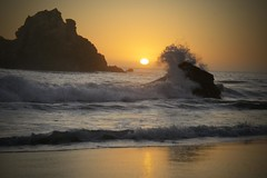 Pfeiffer Beach - Sunset Splash (Creativity+ Timothy K Hamilton) Tags: california sunset orange sun beach twilight 500v20f bigsur wave splash pfeiffer vosplusbellesphotos