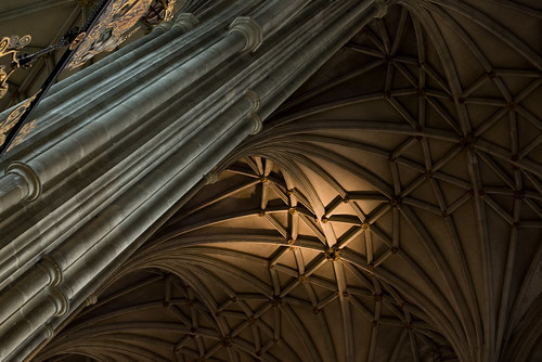 Ceiling and Columns, Canterbury Cathedral