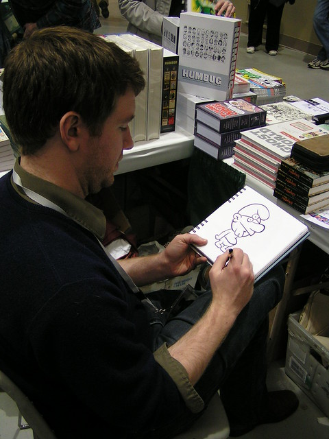 Paul Hornschemeier at Emerald City Comic-Con, 2009