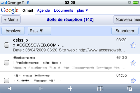gmail sur iPhone