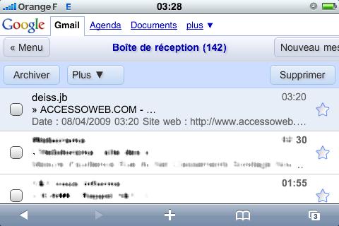 gmail sur iPhone