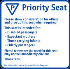Priority seat sign