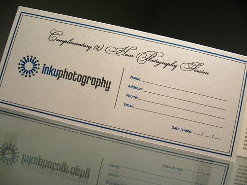 Inku Photo Gift Certificate