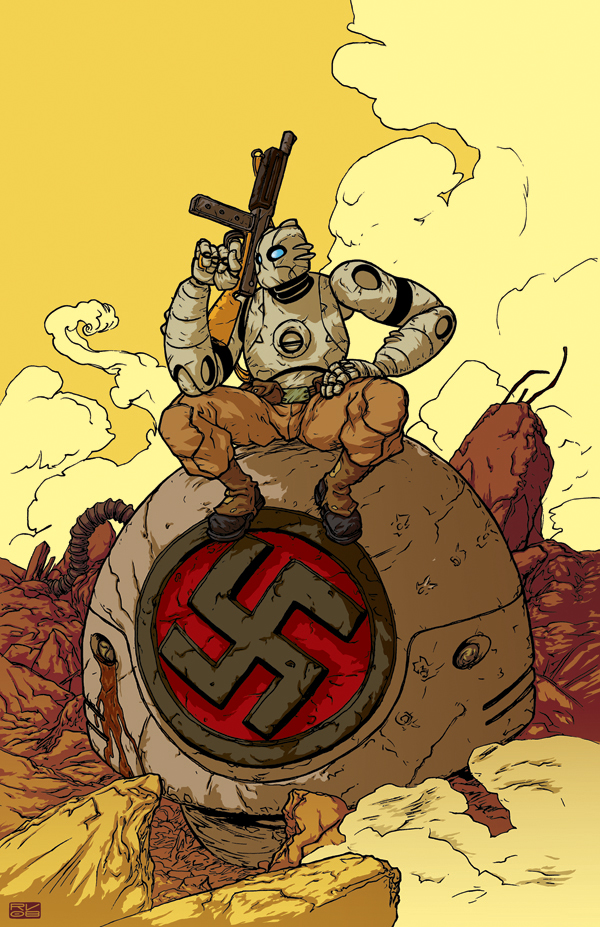 Atomic Robo Pin-up