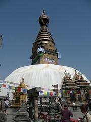 Swayambhunath, Katmandu, Nepal (balavenise) Tags: nepal shrine god buddha stupa prayer religion buddhism katmandu swayambhunath prire devnagari  flickrgiants