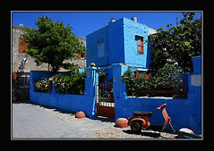 Rhodes in blue (J.Krejci) Tags: blue house travelling architecture greece rhodes rhodos dm architektura bluecolour cestovn easternmediterranean supershot ecko modr modrbarva vchodnstedomo