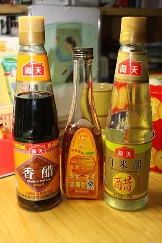 three types of vinegar