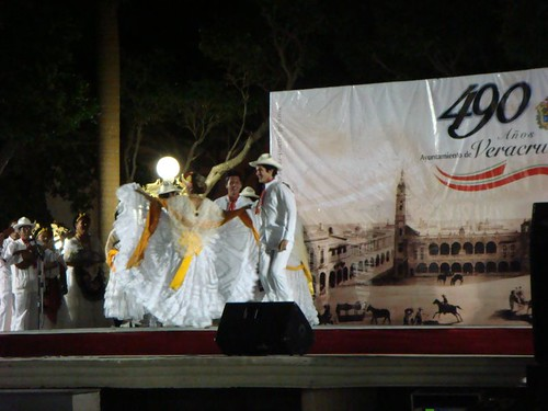 Dancing performance in Veracruz...