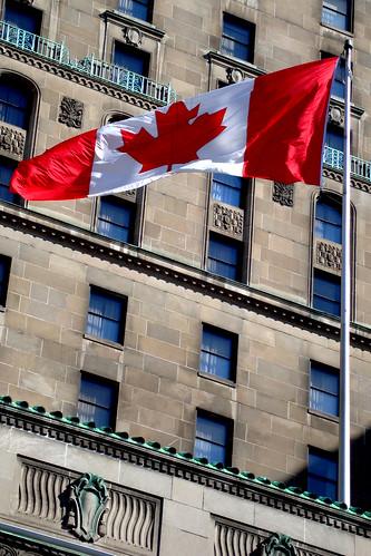 Canadian flag, Royal York Hotel
